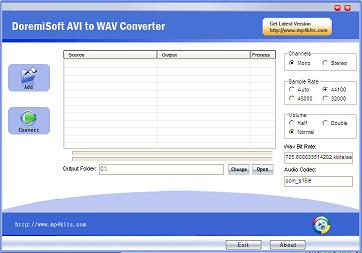 convert avi to wav with Free AVI to WAV Converter