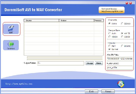 Add AVI File to avi to WAV Converter
