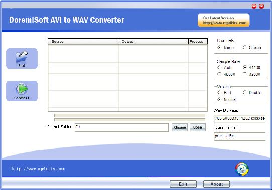 Convert avi fiels to WAV files with one click